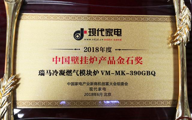 中国壁挂炉产品金石奖